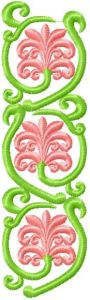 Flower Decoration 1 embroidery design