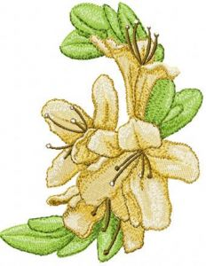 Oriental Flower embroidery design