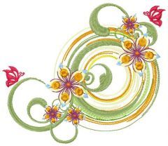Flower composition 2 embroidery design