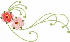 Flower decoration 10 embroidery design