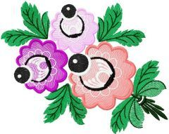 Flower 30 embroidery design