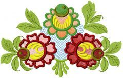 Flower 39 embroidery design
