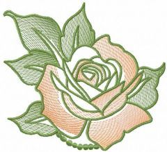 Rose 19 embroidery design