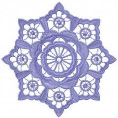 Flower lace embroidery design