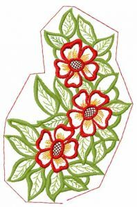 Flower lace 6 embroidery design