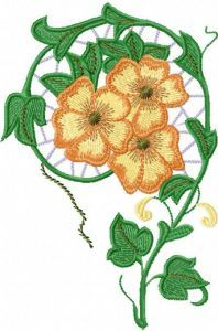 Lace flowers embroidery design