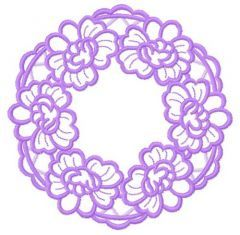 Flower wreath embroidery design