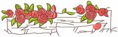 Flowers at the parents' house embroidery design