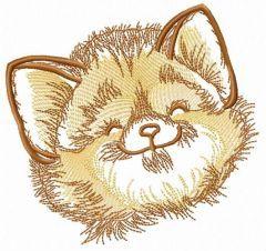 Fluffy muzzle embroidery design