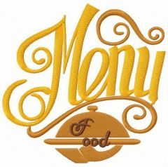 Food menu embroidery design