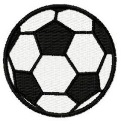 Football ball embroidery design