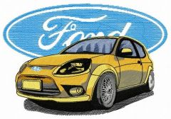 Ford car embroidery design