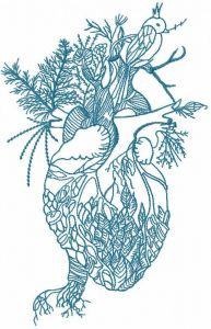 Forest Heart embroidery design