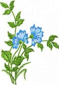 Forget-me-not Flowers embroidery design