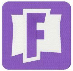 Fortnite alternative logo embroidery design