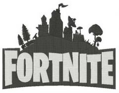 Fortnite city embroidery design