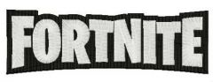 Fortnite wordmark logo embroidery design