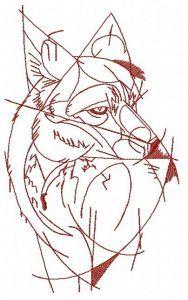 Fox 3 embroidery design