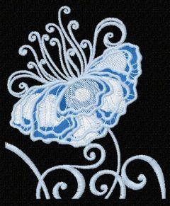 Fragile flower 3 embroidery design