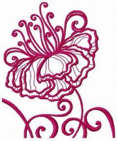 Fragile flower 4 embroidery design