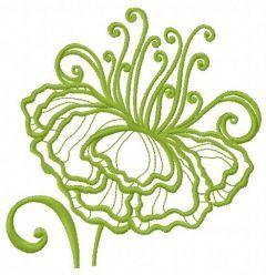 Fragile flower 6 embroidery design