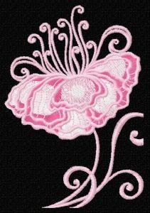 Fragile flower 7 embroidery design