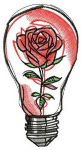 Fragile rose embroidery design