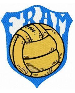Fram FC logo embroidery design