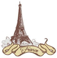 France 2 embroidery design