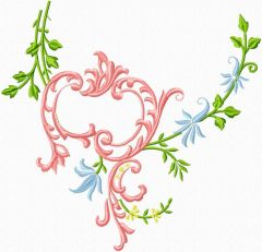 Flowers blanket decor embroidery design