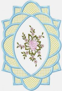 Border applique for table cloth embroidery design