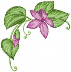 Corner flower embroidery design