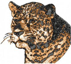 Jaguar 2 embroidery design