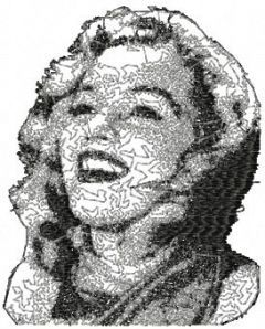 Marilyn Monroe 7 embroidery design