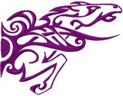 Tribal Horse 5 embroidery design