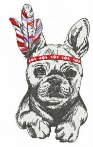 French bulldog 2 embroidery design