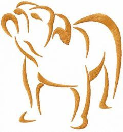 French bulldog 3 embroidery design