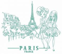 French fashion-mongers 2 embroidery design