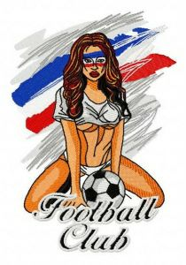 French football fan embroidery design