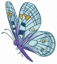 Friendly butterfly embroidery design