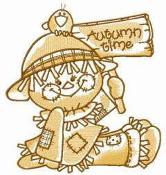 Friendly scarecrow 2 embroidery design