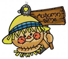 Friendly scarecrow 4 embroidery design