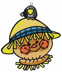 Friendly scarecrow 5 embroidery design