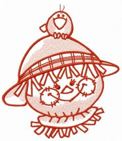 Friendly scarecrow 6 embroidery design