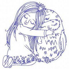 Friendship with owl machine embroidery design 3