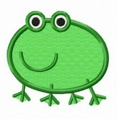 Frog from Peppa Pig embroidery design