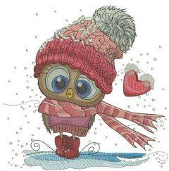 Frozen bird embroidery design
