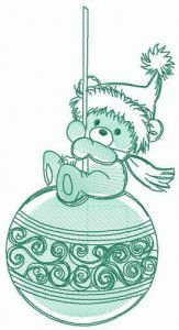 Fun before Christmas embroidery design