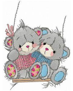 Fun swing embroidery design