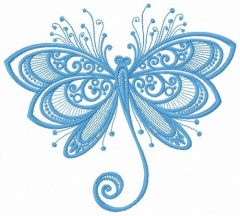 Funny butterfly 2 embroidery design